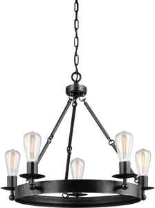 0-005225>Ravenwood Manor 5-Light Single-Tier Chandelier Stardust