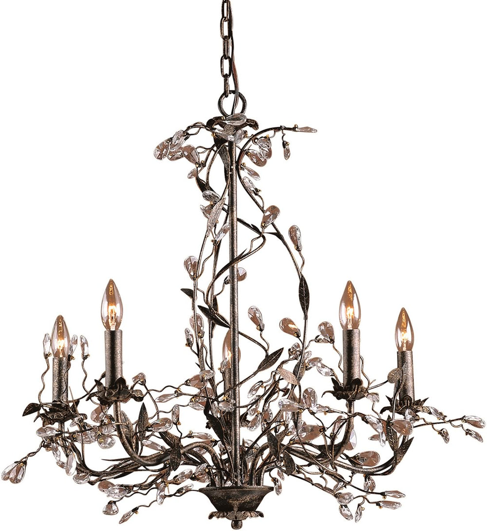 "34""W Circeo 5-Light Chandelier Deep Rust"