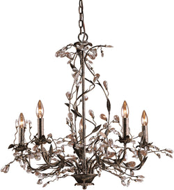Circeo 5-Light Chandelier Deep Rust