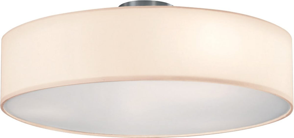 "20""W Grannus 3-Light  Ceiling Light  White"
