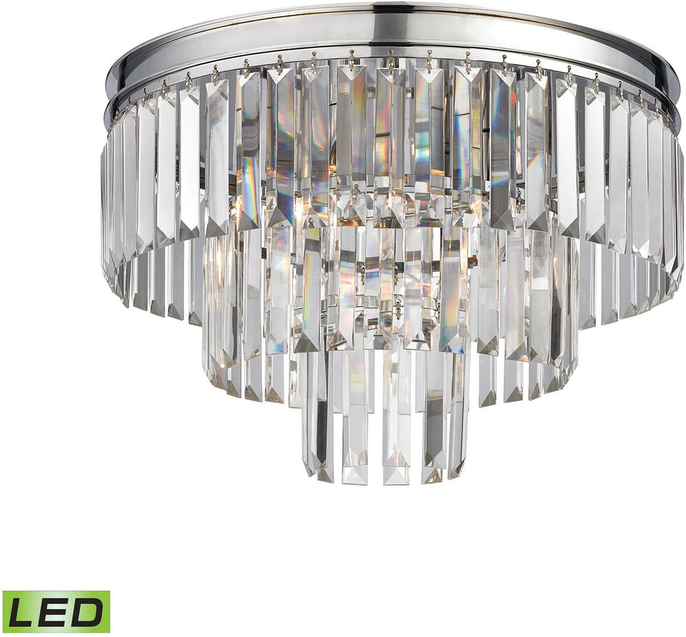 "19""W Palacial 3-Light LED Semi Flush Polished Chrome"