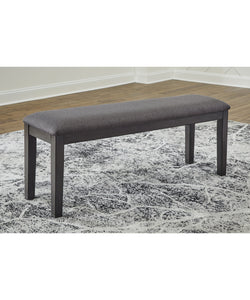 "19""H Luvoni Upholstered Bench Dark Charcoal Gray"