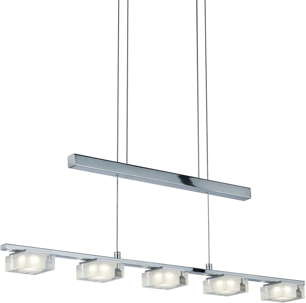 "32""W Brooklyn LED Pendant Chrome"