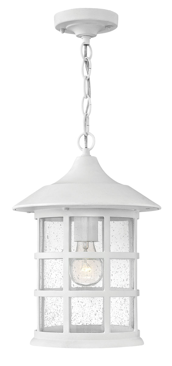 Freeport 1-Light Outdoor Hanging Light in Classic White