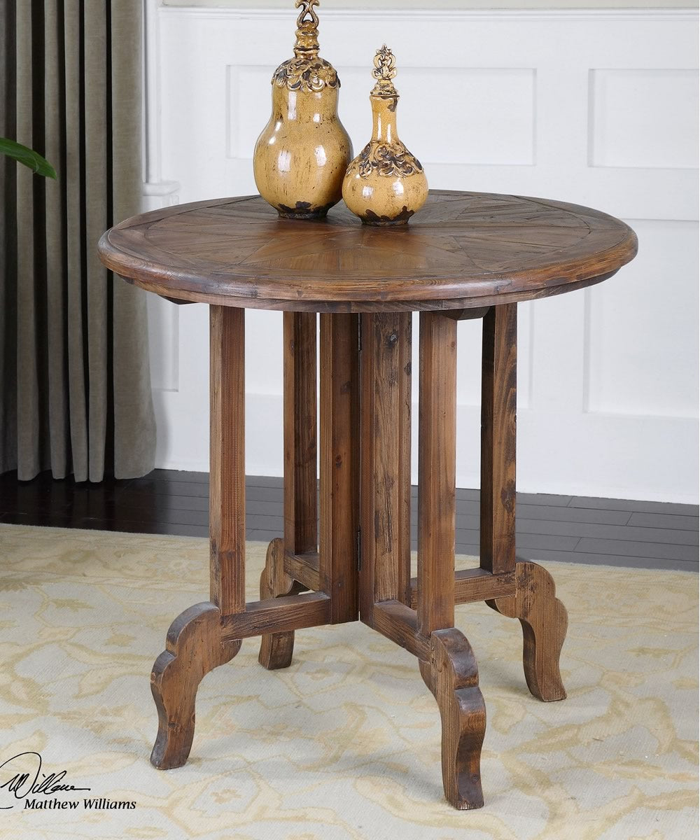 "31""H Imber Round Accent Table"