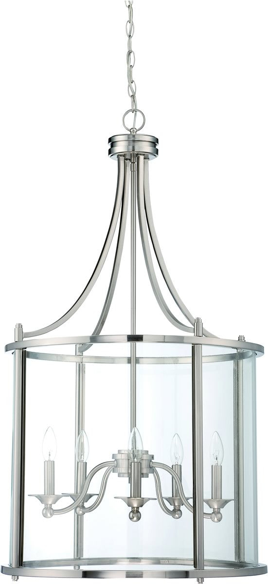 Carlton 5-Light Pendant Light Brushed Nickel