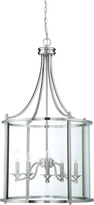 0-008150>Carlton 5-Light Pendant Light Brushed Nickel