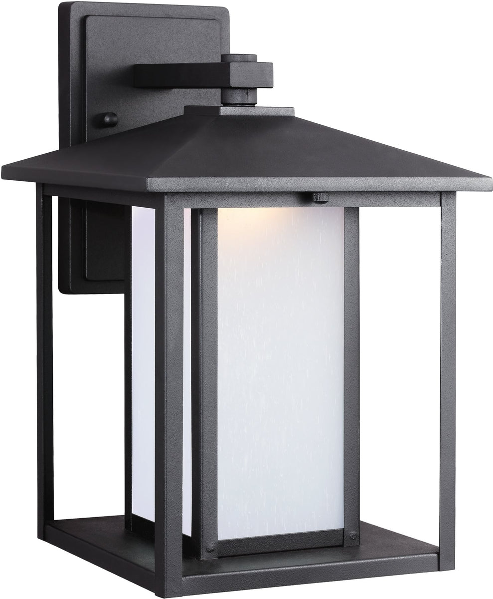 Hunnington 1-Light LED Outdoor Wall Lantern Black