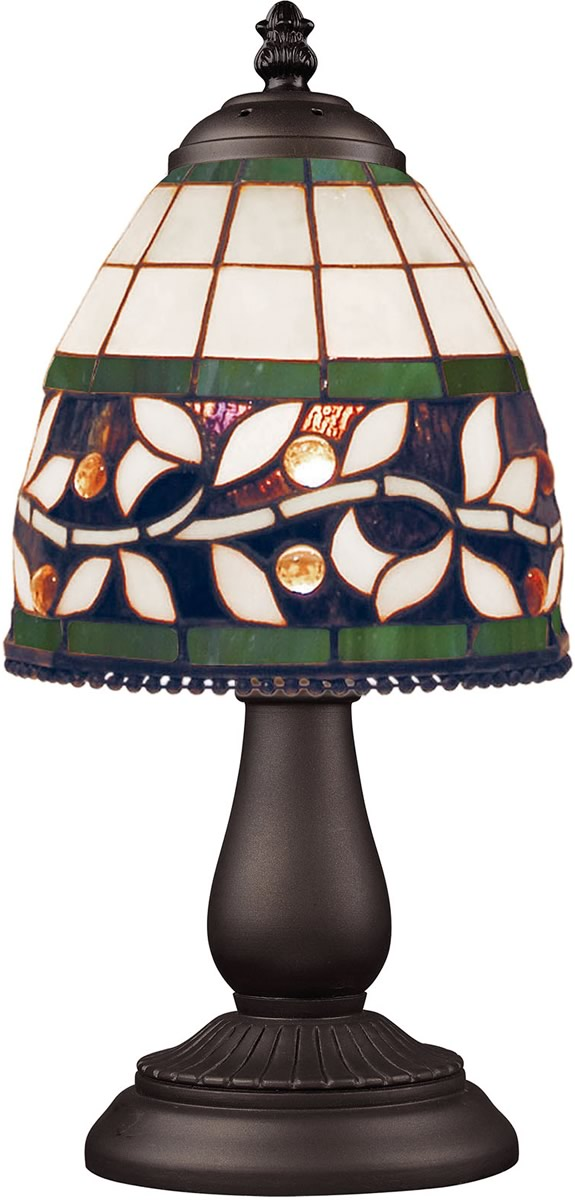 Mix-N-Match 1-Light Table Lamp Tiffany Bronze