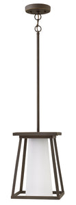 Burke 1-Light Outdoor Hanging Light in Oil Rubbed Bronze