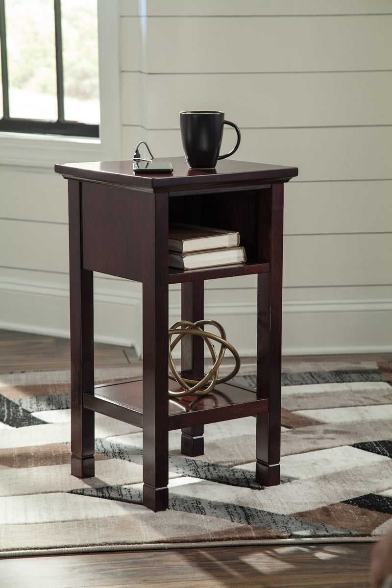 "26""H Marnville Accent Table Reddish Brown"
