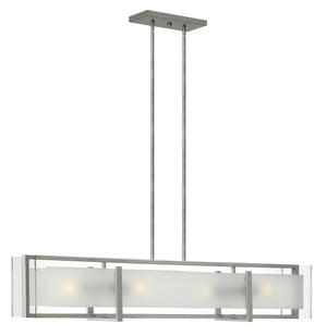 "42""W Latitude 4-Light Stem Hung Linear in Brushed Nickel"