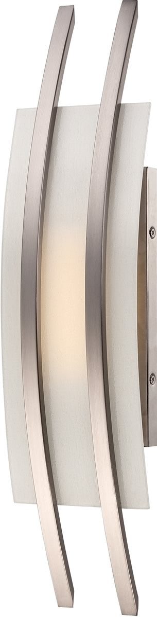 "7""W Trax 1-Light Vanity & Wall Brushed Nickel"