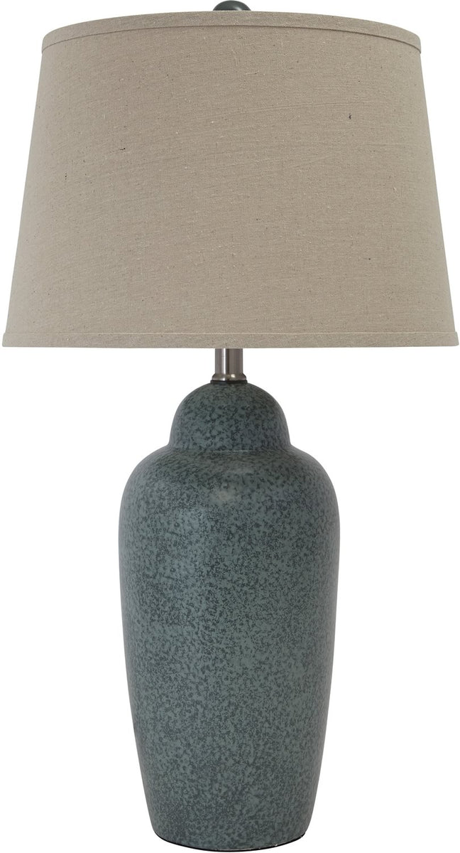 "30""H 1-Light 3-Way Table Lamp Green"