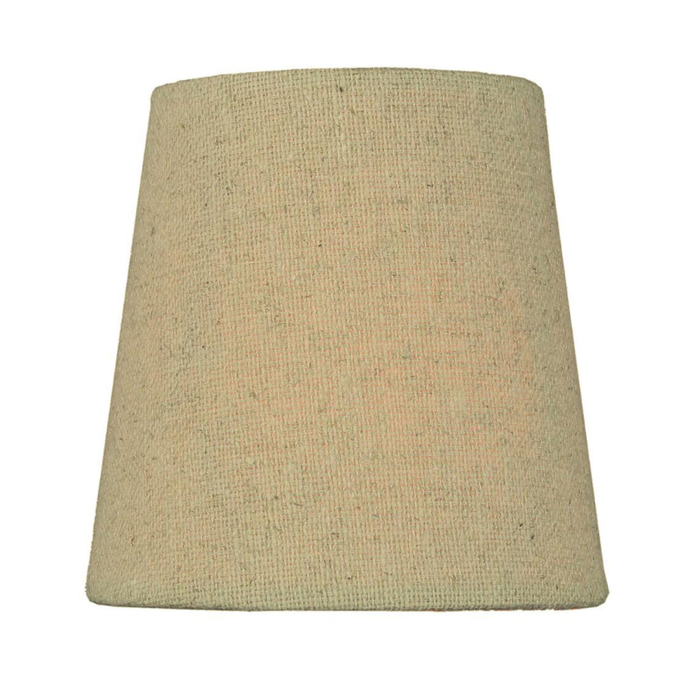 "4""W x 4""H Set of 6 Chandelier Sand Linen Clip-On Lampshade"
