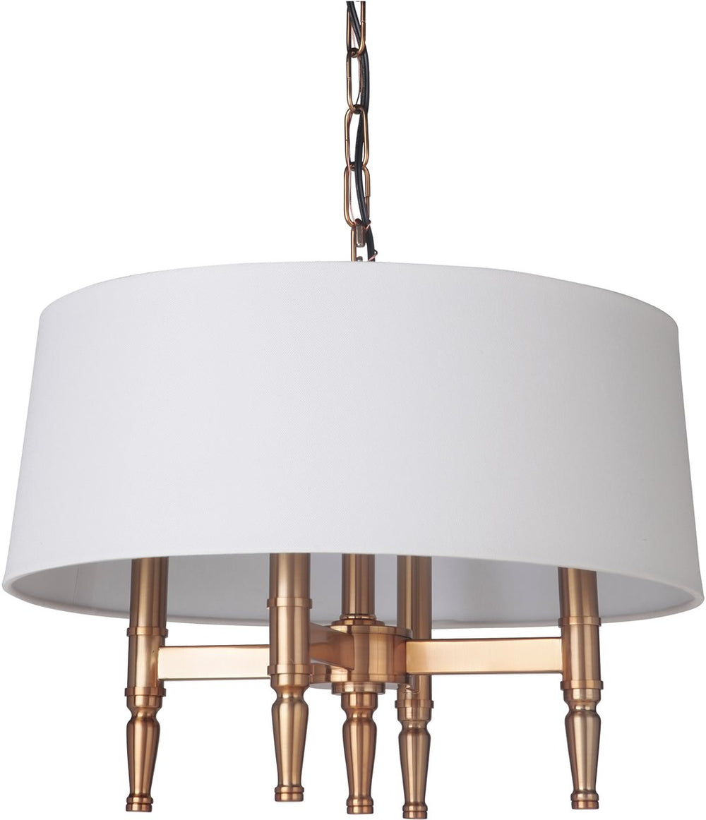 "26""W Ella 4-Light Chandelier Satin Brass"