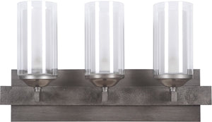 "22""W Mod 3-Light Halogen Bath Vanity Light Natural IronVintage Iron"