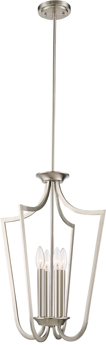 "14""W Laguna 4-Light Pendant Brushed Nickel"
