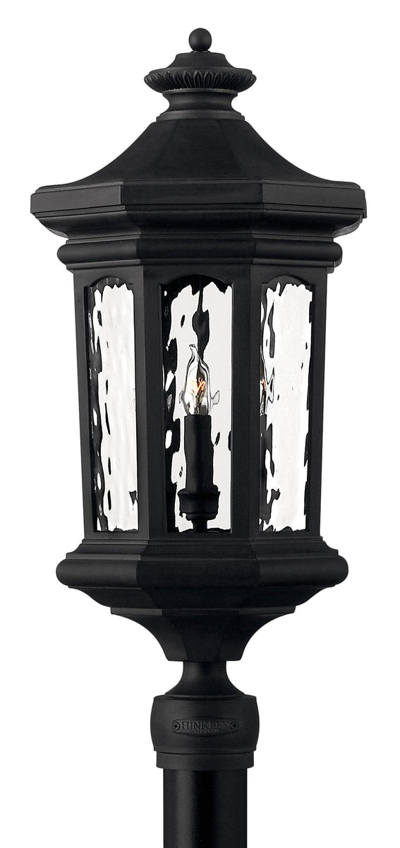 Raley 4-Light Outdoor Pier Post Light in Museum Black