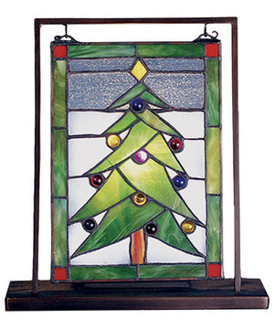 "11""H Christmas Tree Lighted Mini Tabletop Window"