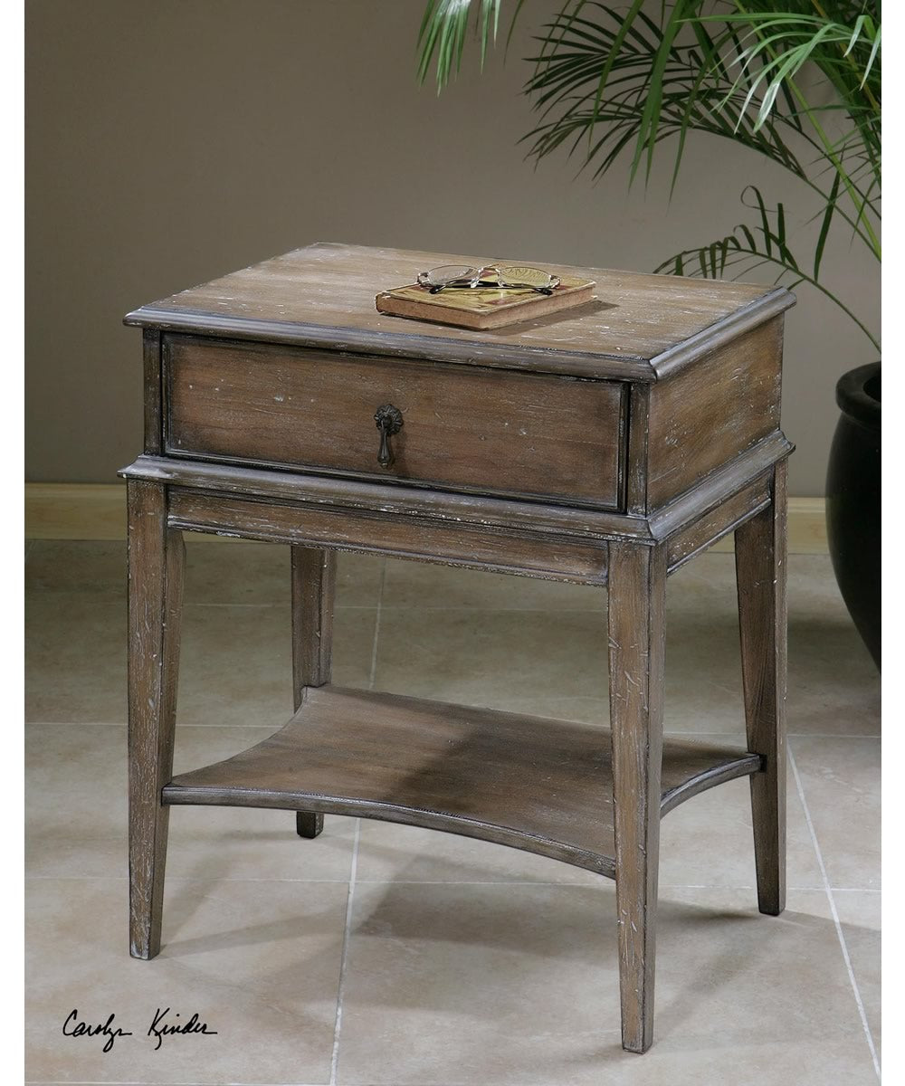 "27""H Hanford Weathered Accent Table"