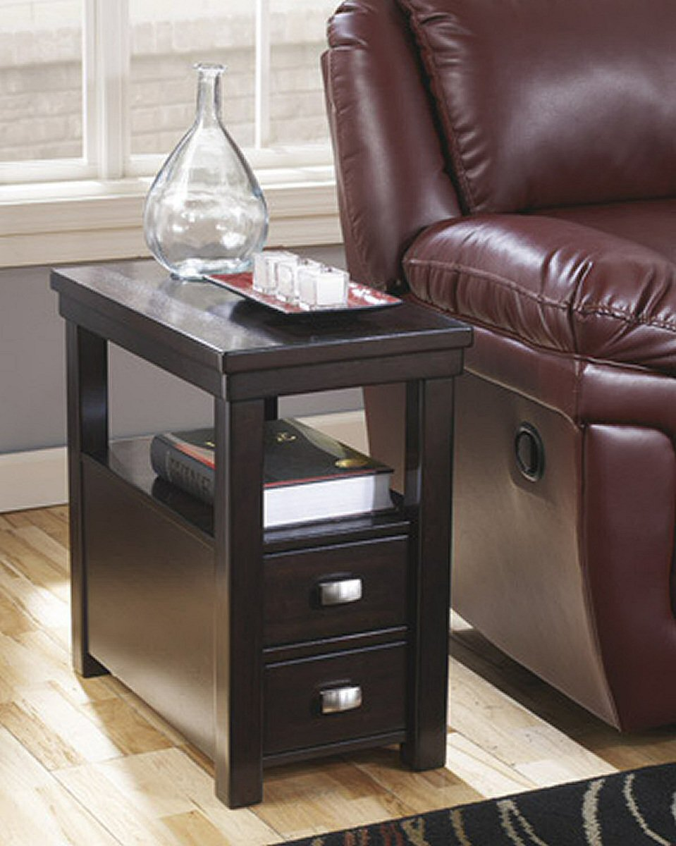 "24""H Hatsuko Chair Side End Table Dark Brown"