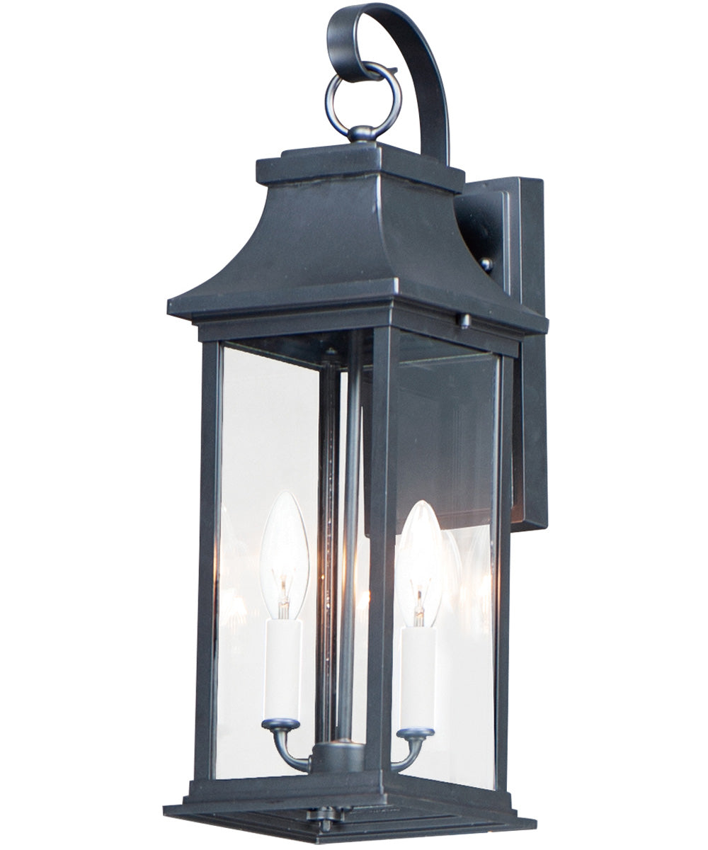 "20""H Vicksburg 2-Light Medium Outdoor Wall Sconce Black"