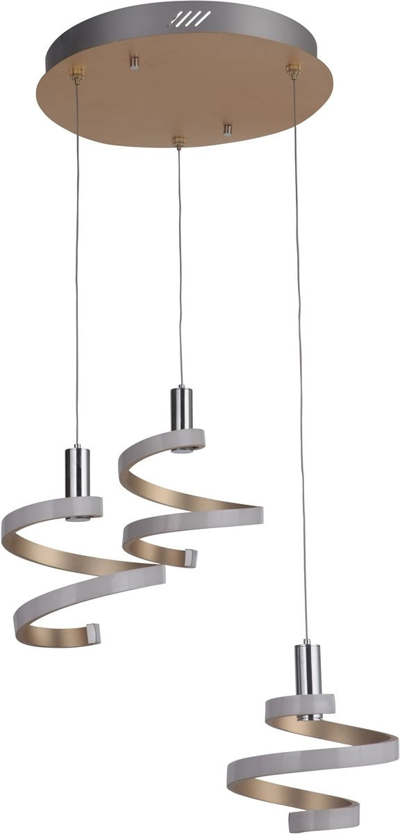 3-Light LED Pendant Light Mercury