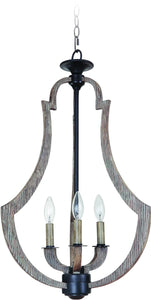 0-011801>Winton 3-Light Foyer Light Weathered Pine/Bronze
