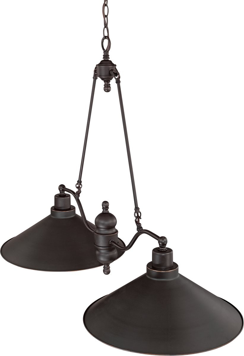 "40""W Bridgeview 2-Light Pendant Mission Dust Bronze"