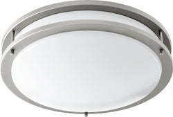 1-light LED Ceiling Flush Mount Satin Nickel