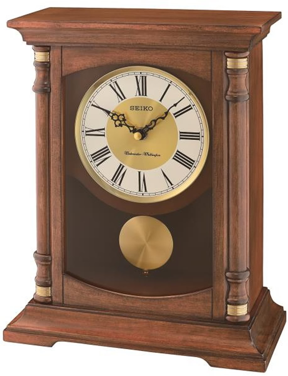 Mantle with Pendulum and Chime Clock