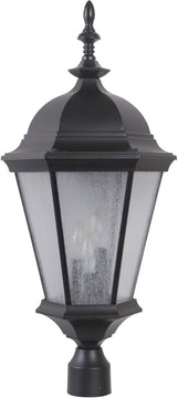 "29""H Chadwick 3-Light Outdoor Post Light Midnight"