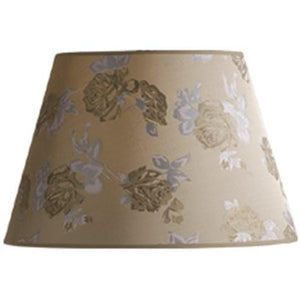 10x16x10 Carla Floral Raw Silk Barrel Shade