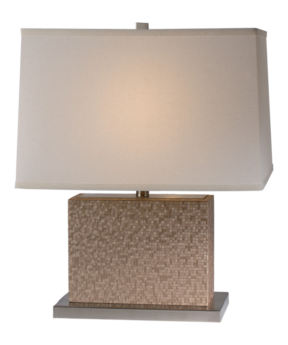"22""H Merge 1-Light  Table Lamp in Brushed Nickel Finish TT7443 by Trend Lighting"