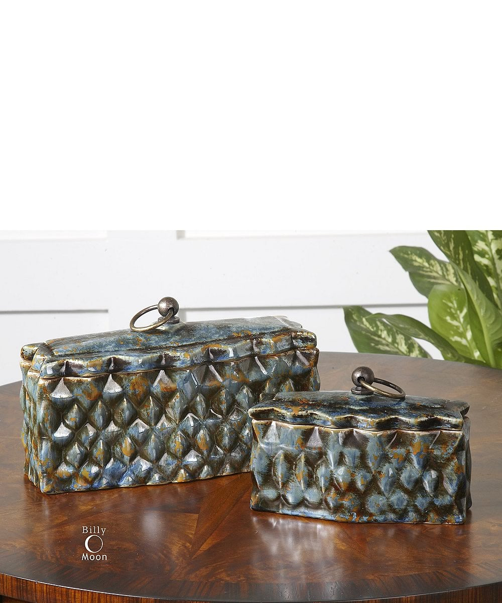 "6""H Neelab Ceramic Containers Set of 2"
