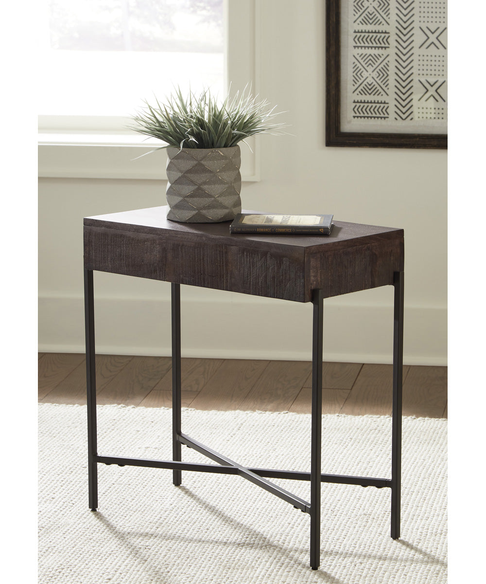 "25""H Matler Accent Table Grayish Brown"