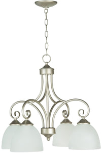 Raleigh 4-Light Down Chandelier Satin Nickel