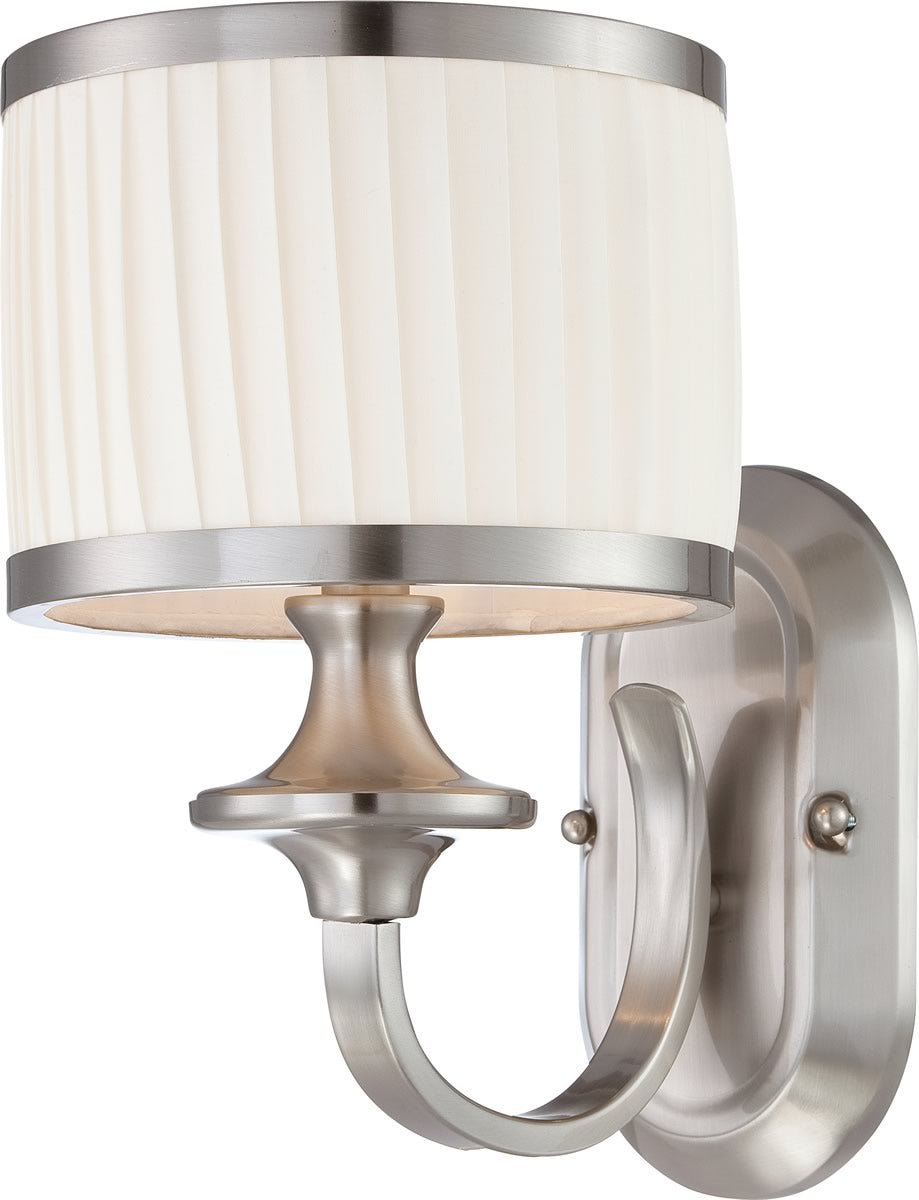 "9""W Candice 1-Light Vanity & Wall Brushed Nickel"