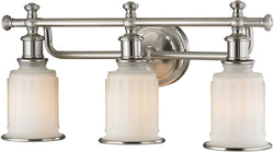 Elk Lighting Acadia 3-Light Bath Light Brushed Nickel 52002/3