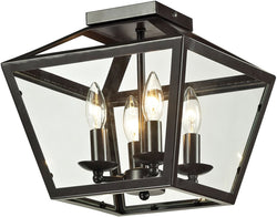 Elk Lighting Alanna 4-Light Semi Flush Mount Oil Rubbed Bronze 31506/4