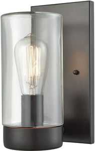 Elk Lighting Ambler 1-Light Outdoor Wall Sconce Oil Rubbed Bronze/Clear Glass 450251