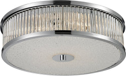 Elk Lighting Amersham 4-Light Flush Mount Chrome 81041/4
