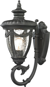 Elk Lighting Anise 1-Light Outdoor Wall Light Textured Matte Black 45075/1