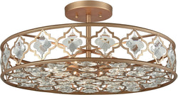 Elk Lighting Armand 8-Light Semi Flush Matte Gold/Clear Crystal 320938
