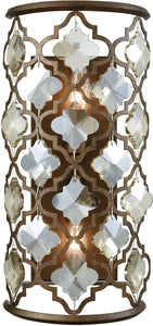 Elk Lighting Armand 2-Light Wall Sconce Weathered Bronze/Champagne Plated Crystal 310912