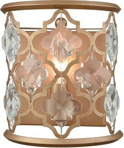 Elk Lighting Armand 1-Light Wall Sconce Matte Gold/Clear Crystal 320901