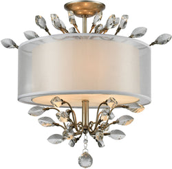 Elk Lighting Asbury 3-Light Semi Flush Mount Aged Silver 16281/3