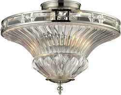 Elk Lighting Aubree 2-Light Semi Flush Mount Polished Nickel 31500/2
