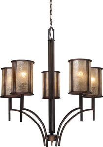 Elk Lighting Barringer 5-Light Chandelier Aged Bronze with Translucent Glass 150355